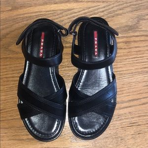 Never worn Prada sport leather ankle strap sandal